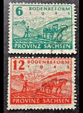 Pokario Vokietija, Sovietų zona, pilna serija, MiNr 90-91 Used (O)