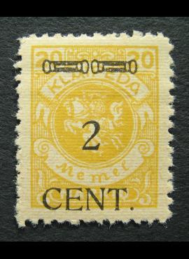 Klaipėda (Memel), MiNr 176II MLH*