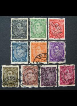 Jugoslavija (Karalystė), pilna serija, MiNr 228-237 Used (O)