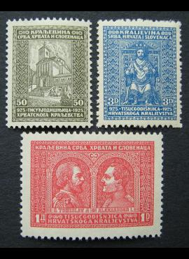 Jugoslavija (Karalystė), pilna serija, MiNr 222-224 MNH**/MH*
