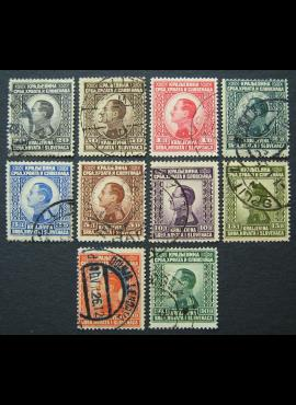 Jugoslavija (Karalystė), pilna serija, MiNr 176-185 Used (O)