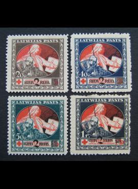 Latvija, pilna serija, MiNr 65-68 (z) MNG (*)