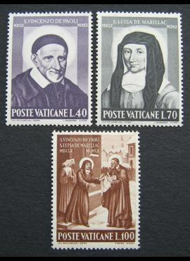 Vatikanas, pilna serija, MiNr 360-362 MNH**