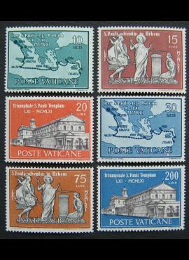 Vatikanas, pilna serija, MiNr 369-374 MNH**