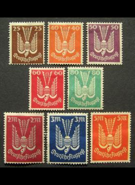 Vokietijos Reichas, pilna serija, MiNr 210-218 MH*