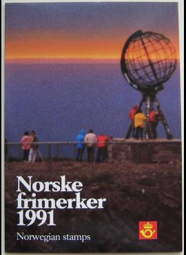 Norvegija, 1991 m. pašto ženklų kolekcija (MiNr 1059-1083)