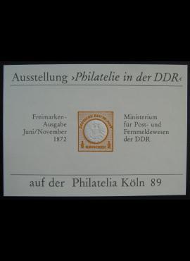 Vokietijos Demokratinė Respublika (VDR), pašto ženklų parodos kortelė