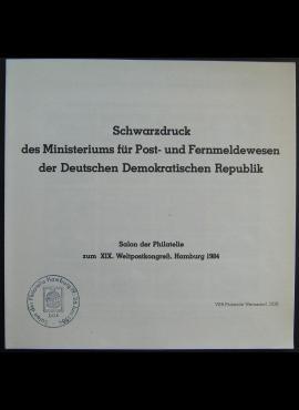 Vokietijos Demokratinė Respublika (VDR), XIX Pasaulinio filatelistų kongreso bukletas