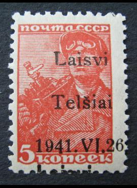 Vokietijos Reichas, Lietuvos okupacija, Telšiai, MiNr 1 I MLH*