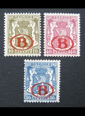 Belgija, tarnybiniai ženklai MiNr 26-28 MNH**