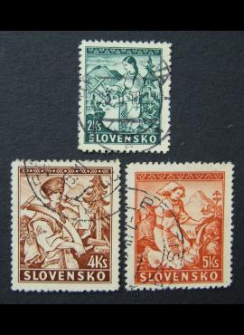 Slovakija, pilna serija, MiNr 43-45 A Used (O)