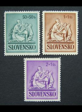 Slovakija, pilna serija, MiNr 91-93 MNH**