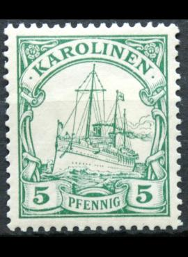 Vokietijos Reichas, Užsienio ir kolonijų paštas, Karolinų salos, MiNr 8 MH* V
