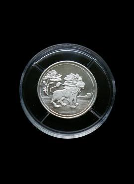 SIDABRINIS, suvenyrinis liūto medalis, 2001 m.
