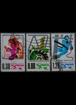 Izraelis, pilna serija MiNr 626-628 Used (O)