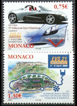 Monakas, pilna serija MiNr 2743-2744 MNH** V