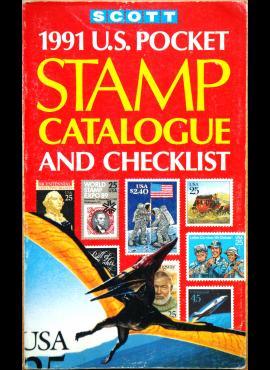 SCOTT 1991m JAV pašto ženklų kišeninis katalogas G