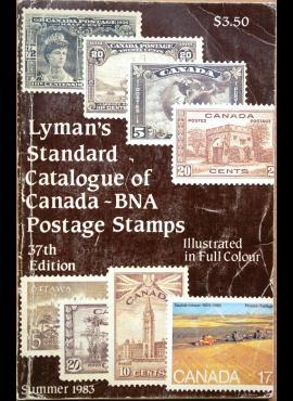 Lymano 1983m Kanados pašto ženklų katalogas G