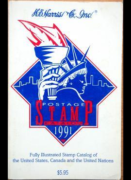 H. E. Harris 1991m. JAV, Kanados ir JTO pašto ženklų katalogas G