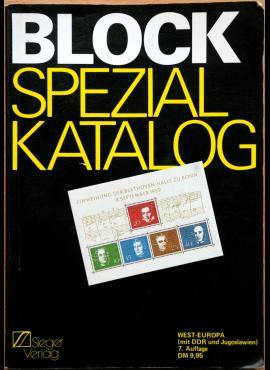 Sieger 1983m specializuotas Europos šalių pašto blokų katalogas G