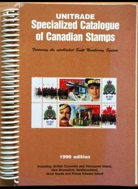 Unitrade 1999m psecializuotas Kanados pašto ženklų katalogas G