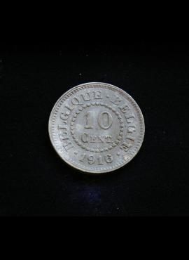 Belgija, 10 santimų 1916m