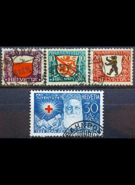 Šveicarija, pilna serija ScNr B45-B48 Used(O)