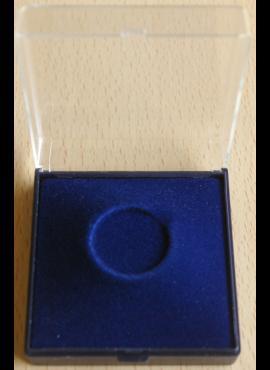 Dėžutė monetai iki 23 mm. skersmens, skaidriu viršeliu