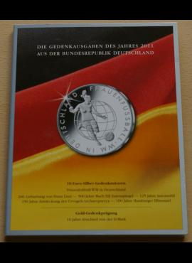 2011m Vokietijos 10 eurų proginių monetų kortelė