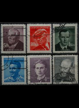 Čekoslovakija, pilna serija MiNr 566-571 Used(O)