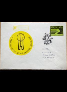 Lietuva, 1991m pirmos dienos ženklinis vokas su MiNr 483 G