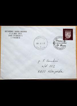 Lietuva, 1996m vokas su MiNr 609 G