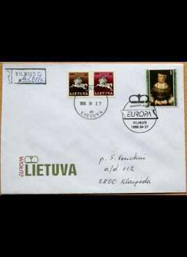 Lietuva, 1996m pirmos dienos vokas su MiNr 608 G