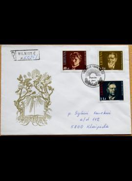 Lietuva, 1996m pirmos dienos vokas su MiNr 603-605 G