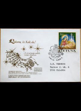 Dailininko R. Gibavičiaus 1994m kolekcinis pirmos dienos vokas su MiNr 572 G