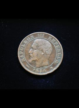 Prancūzija, 5 santimai 1854m-BB