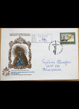 Dailininko R. Gibavičiaus 1993m kolekcinis pirmos dienos vokas su MiNr 533 G