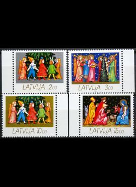 Latvija, pilna serija MiNr 344-347 MNH**