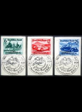 Vokietijos Reichas, pilna serija, MiNr 695-697 Used(O)