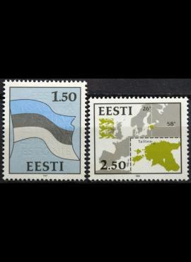 Estija pilna serija MiNr 174-175 MNH**