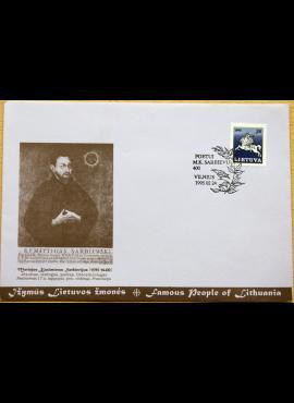 Muzikologo A. Karaškos 1995m kolekcinis vokas su MiNr 466 G