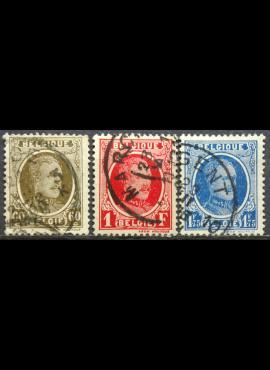 Belgija, pilna serija ScNr 158, 161, 187 Used(O)