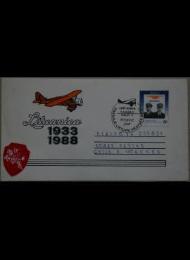 Dailininko A. Šakalio 1988m kolekcinis vokas su atvirute Nr. 20 G