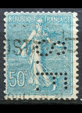 Prancūzija, ScNr 144 perfinas Used(O)