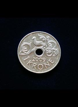 Norvegija, 1 krona, 2009m