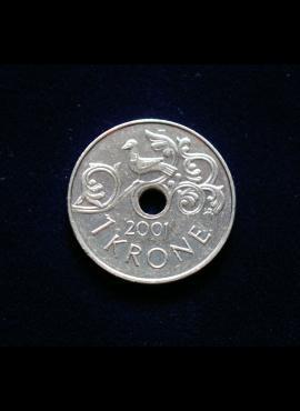 Norvegija, 1 krona, 2001m JJE