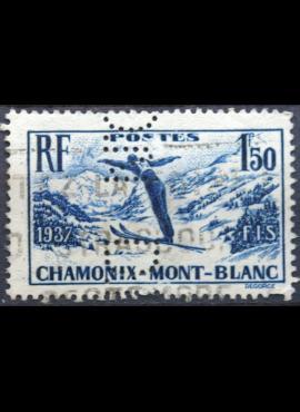 Prancūzija, ScNr 322 perfinas Used(O)