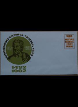 Dailininko A. Šakalio 1992m kolekcinis vokas Nr. 74 G