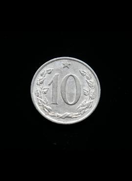 Čekoslovakija, 10 helerių 1965m
