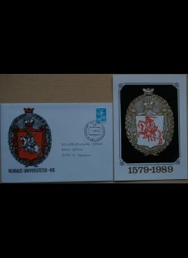 Dailininko A. Šakalio 1989m kolekcinis vokas su atvirute Nr 35 G